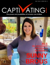 Cover - Like her name, Sunny is beaming with a beautiful smile, posed standing near a pool at her in-laws home. She's wearing a lavender long-sleeved top with a crew neck. Her shoulder-length hair has golden highlights.