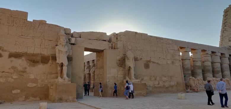 An entrance to the Karnak Temple Complex