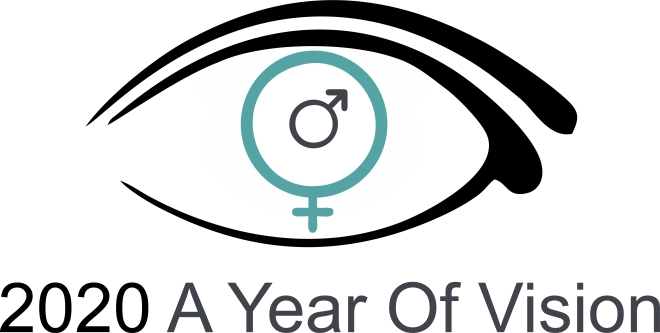 2020 A Year Of Vision logo is described in the body of the post.