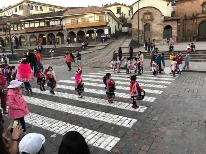 Cusco pre-schoolers in festival parade